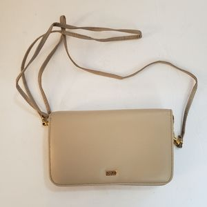 Buxton Taupe Crossbody Bag Wallet Clutch